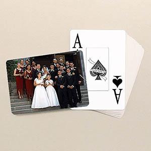 Hochzeitstag Großdruck Spielkarten Querformat