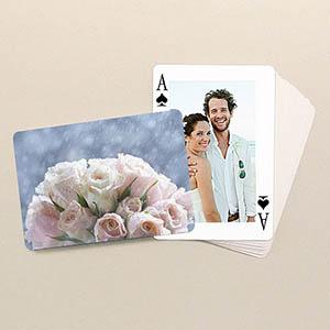 Klassische Spielkarten mit Rückseite im Querformat