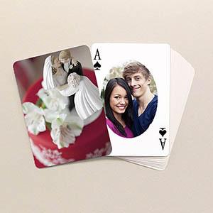 Ovales Portrait Spielkarten beidseitig personalsierbar