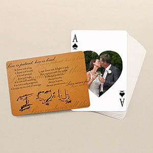 Herz Spielkarten beidseitig individuell gestalten