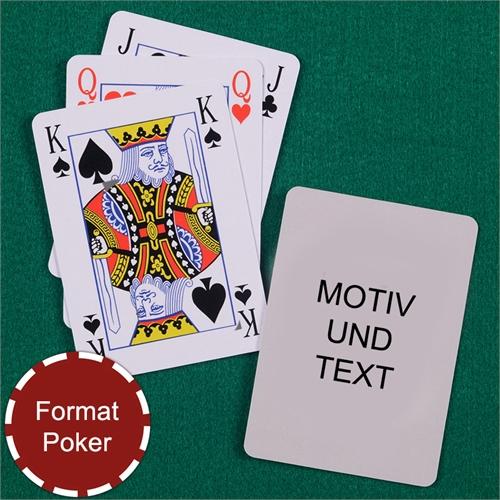 Bridge Spielkarten in Pokergröße