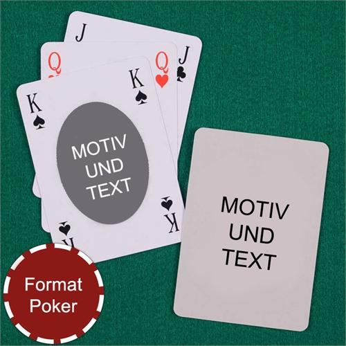 Ovales Motiv Bridge Spielkarten Beidseitig Gestaltbar