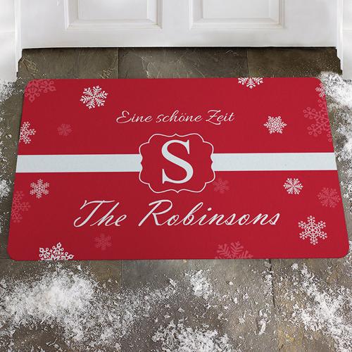 Weihnachten Geschenkideen als Türmatten selber gestalten (Rot)