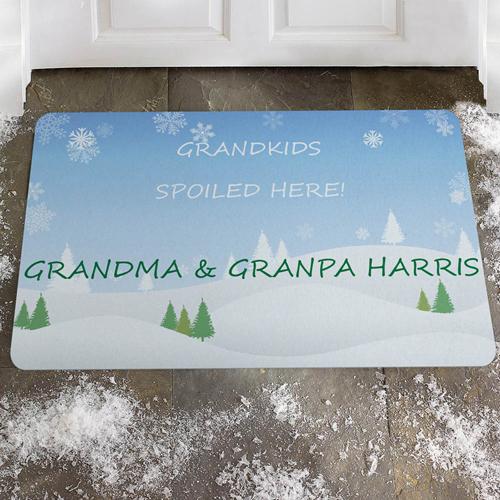 Willkommen Winterwunderland Fußmatte Schmutzfangmatte Personalisieren
