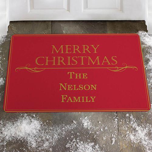 Frohe Weihnachten Merry Christmas Fußmatte Schmutzfangmatte Personalisieren