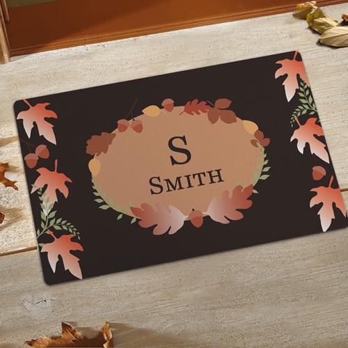 Willkommen Herbstwetter Fußmatte Schmutzfangmatte Personalisieren