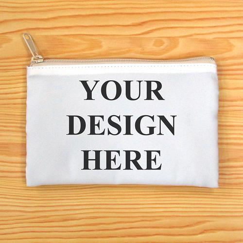 Beiger Zipp Beide Seiten gleich Personalisieren 12,7 x 20,,3 cm Clutch