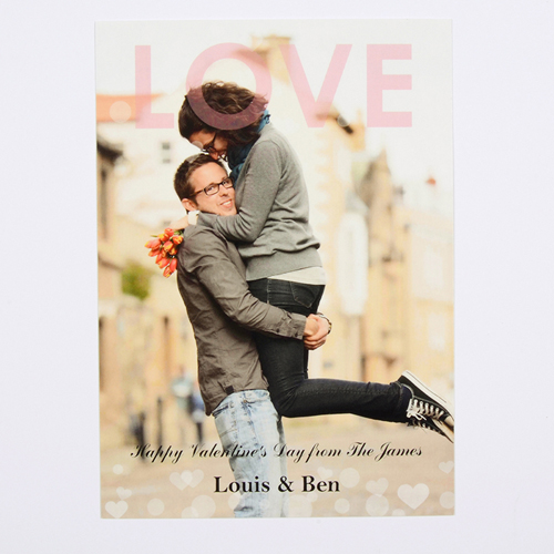 Liebe Valentinstag Fotokarte Personalisieren 127x178