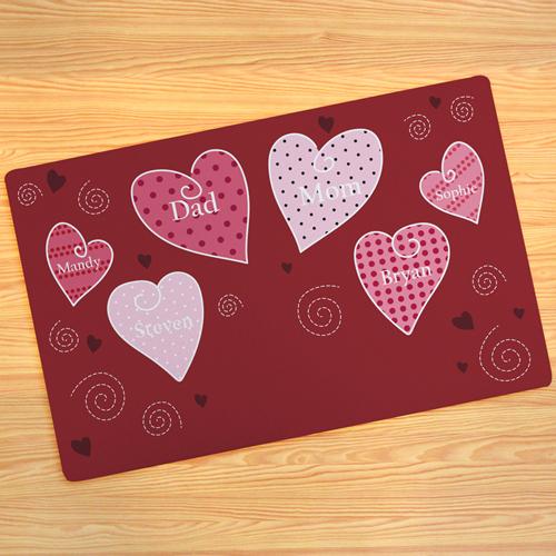 Herzen Fußmatte Schmutzfangmatte Personalisieren