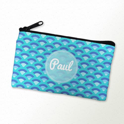 Blaue Kette Kosmetiktasche 10,2 x 17,8 cm Beidseitig gleich personalisieren