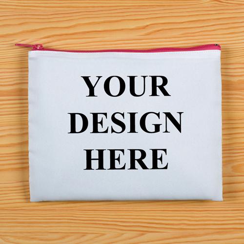 Pink Zipp Beide Seiten gleich Personalisieren 20,3 x 25,4 cm Clutch