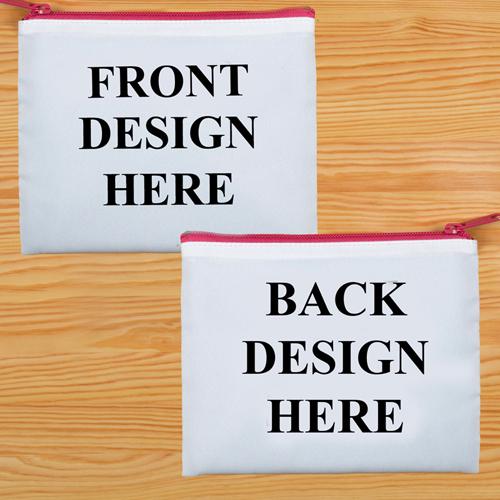 20,3 x 25,4 cm Kosmetiktasche Zwei Seiten Zwei Motive Pinker Reißverschluss