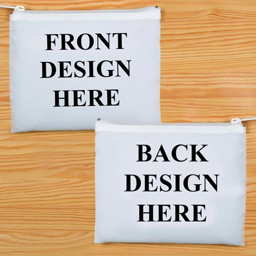 20,3 x 25,4 cm Kosmetiktasche Zwei Seiten Zwei Motive Weißer Reißverschluss