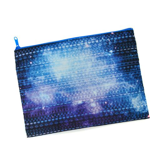 Blauer Zip Personalisierte Kosmetiktasche 24,1 x 33,0 cm Beide Seiten gleich