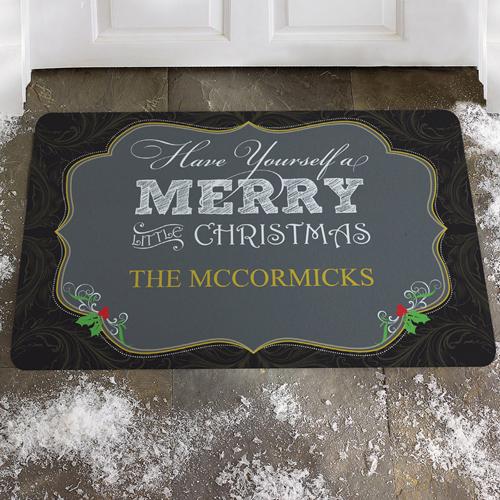 Fröhliche Weihnachten Fußmatte Schmutzfangmatte Personalisieren 43x69cm