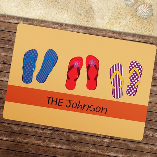 Bitte Schuhe ausziehen Fußmatte Schmutzfangmatte Personalisieren 43x69cm