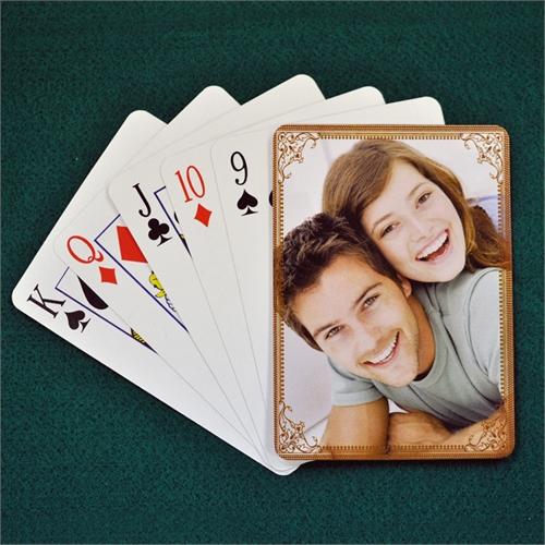 Hochzeitsspielkarten,, Schoko, Hochformat