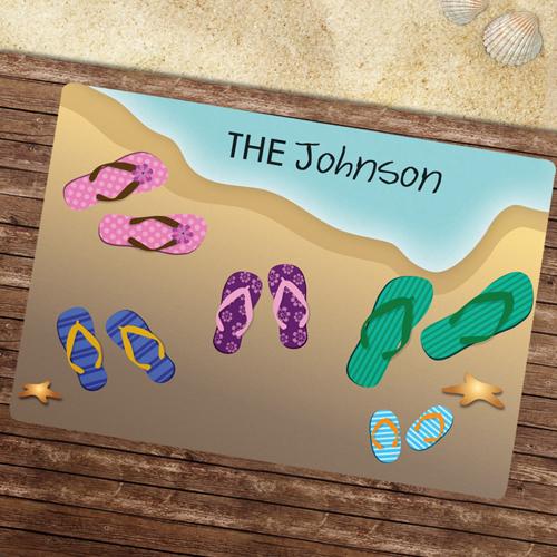 Fünf Paar Schuhe Türmatte Fußmatte Schmutzfangmatte Personalisieren 43x69cm