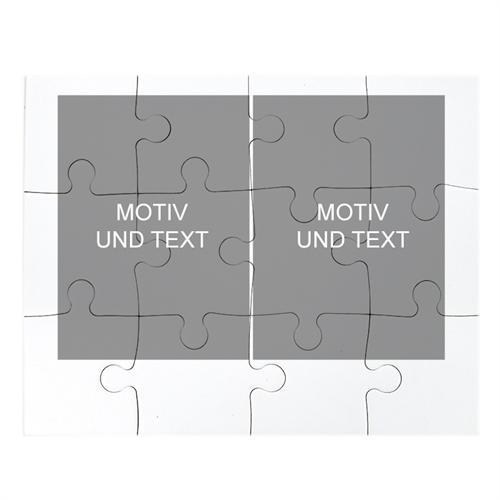 Kollagepuzzel Zwei Bilder Hochformat