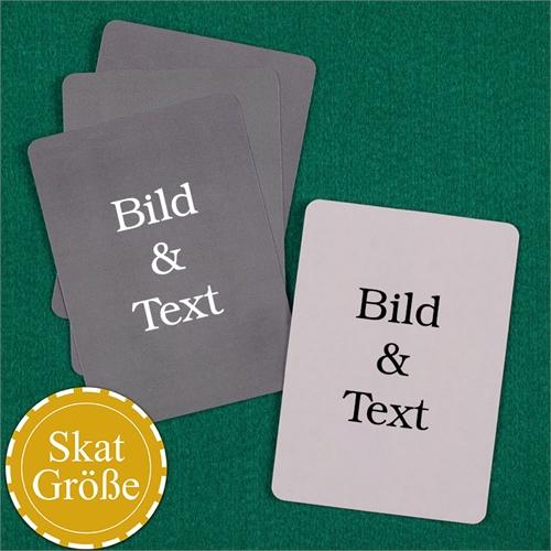 SKAT Kartenspiel Blanko zum vollständigen Personalisieren Hochformat