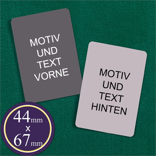 44 mm x 67 mm Spielkarten Blanko Kartenspiel Personalisieren