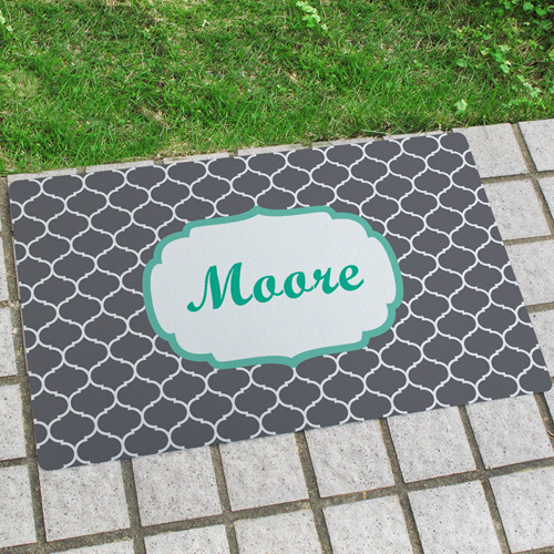 Familie Müller Türmatte Fußmatte Schmutzfangmatte Personalisieren 43x69cm