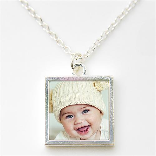Halsband Anhänger mit Foto und Ihrem Design Personalisieren Schmuck Sterling Silber 16mm