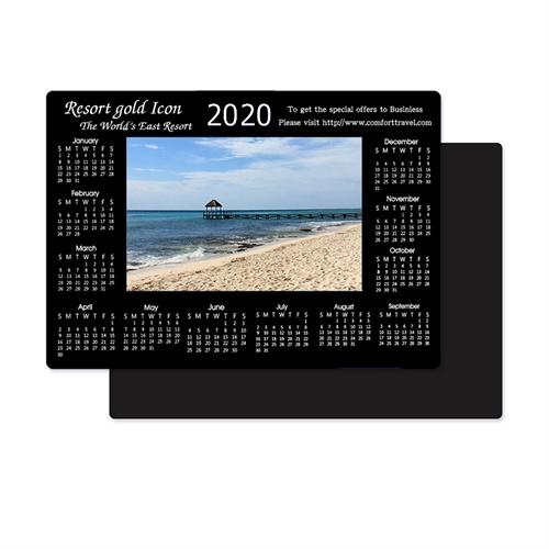Schwarz 2018 Fotomagnetkalender Bild in Mitte 8,9 cm x 12,7 cm Personalisieren
