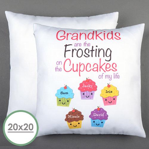 Fünf Cupcakes Personalisierter Kissenbezug 50,8 x 50,8 cm