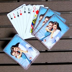 Personalisierte Hochzeitsspielkarten