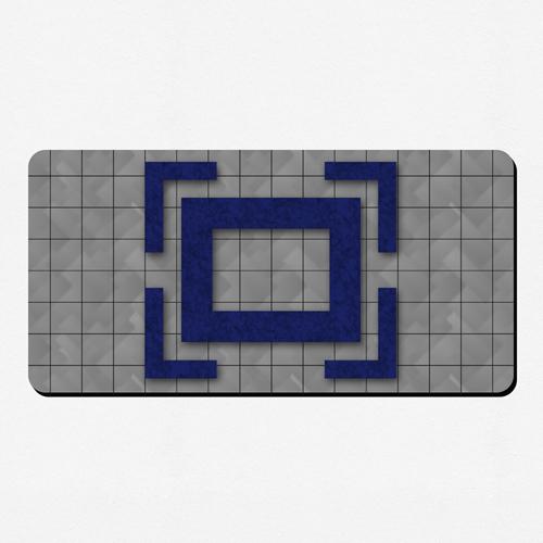 Bunte Spielmatte Gummi Personalisieren 35,6 x 71,0 cm