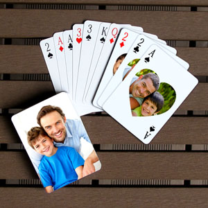 Herz Muttertag personaliserte Spielkarten
