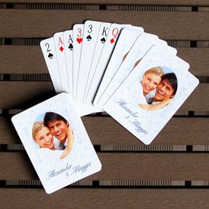 Hochzeitstag Personalisierte Foto-Spielkarten
