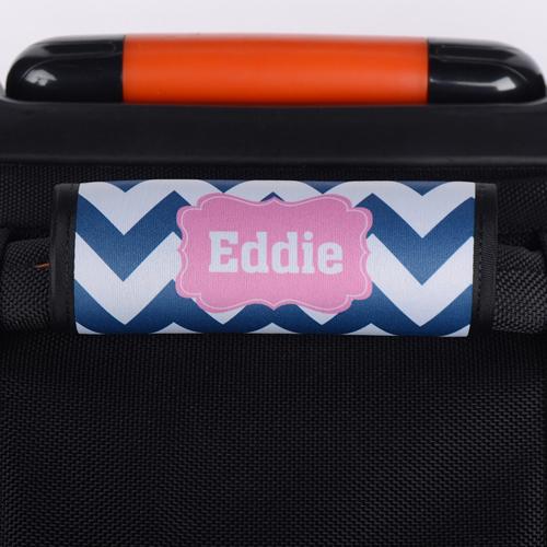 Wellen Navy Pink Personalisierter Kofferanhänger