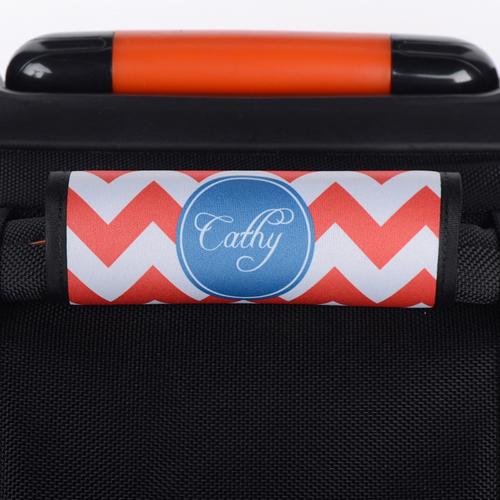 Wellen Rot Blau Personalisiertes Kofferschild