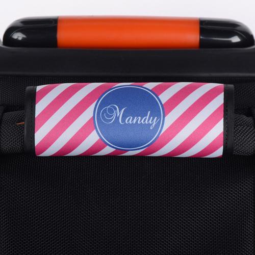 Pinke Streifen Personalisiertes Kofferschild