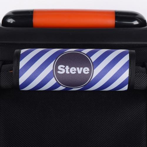 Purple Streifen Personalisiertes Kofferschild