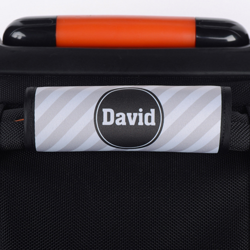 Graue Streifen Personalisiertes Kofferschild