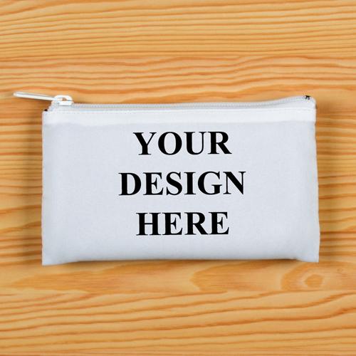 Reißverschluss Weiß Kosmetiktasche Personalisieren 8,9 x 15,2 cm Beide Seiten gleich