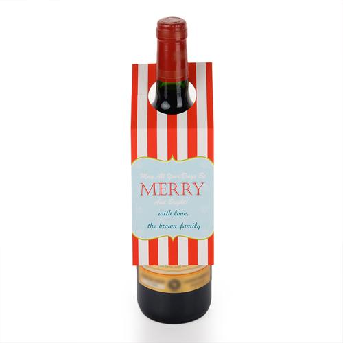 Frohe Weihnachten Weinflasche Personalisieren Kragen Tag