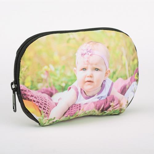Große Kosmetiktasche mit Reißverschluss Foto Personalisieren 17,3 x 12,2 cm