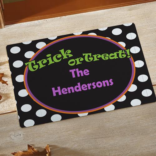 Trick or Treat Halloween Fußmatte Schmutzfangmatte Personalisieren