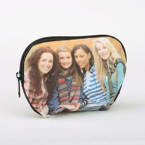 Medium Kosmetiktasche mit Reißverschluss Foto Personalisieren 15,2 x 10,8 cm