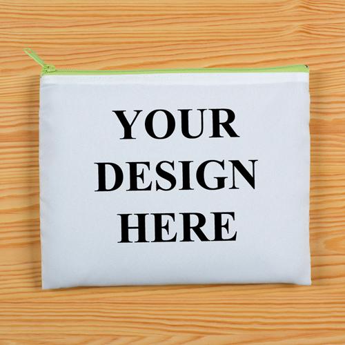 Grüner Zipp Beide Seiten gleich Personalisieren 20,3 x 25,4 cm Clutch