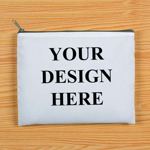 Grauer Zipp Beide Seiten gleich Personalisieren 20,3 x 25,4 cm Clutch