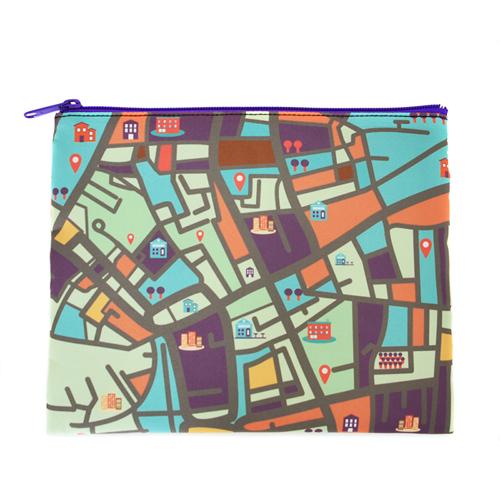Lila Zipp Clutch Beide Seiten gleich Personalisieren 20,3 x 25,4 cm