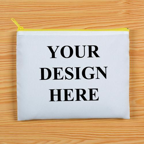 Gelber Zipp Clutch Beide Seiten gleich Personalisieren 20,3 x 25,4 cm