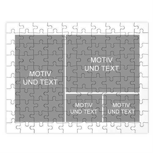 Kolllagepuzzle 4 Photos, klassisch weiß
