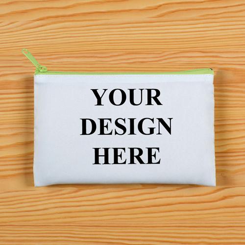 Hellgrüner Zip Personalisierte Kosmetiktasche 24,1 x 33,0 cm Beide Seiten gleich