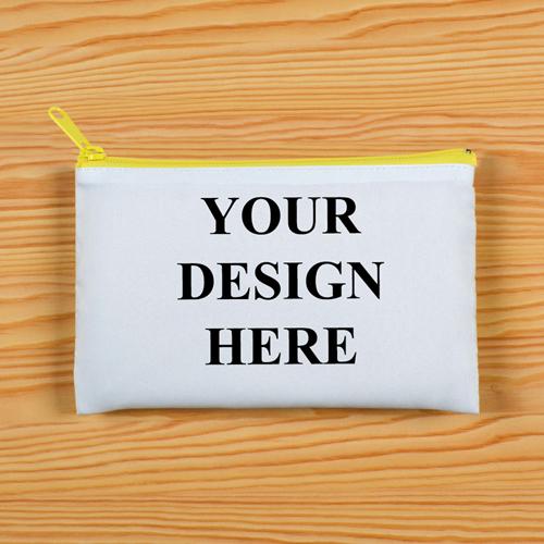 Vollbild Kosmetiktasche Gelber Reißverschluss Beide Seiten gleiches Foto 27,9 x 35,6 cm